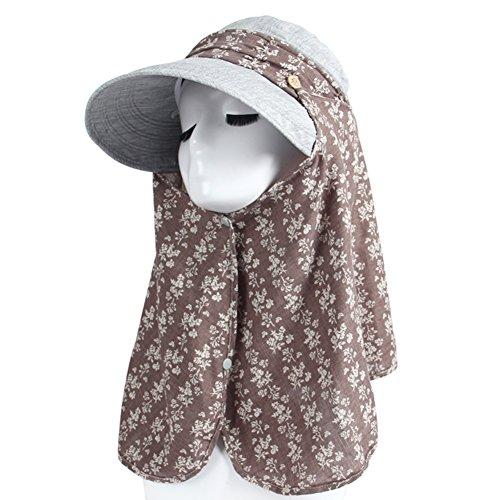 Sun chapeau femme/Eté UV chapeau de soleil couvrant son visage/ Grand chapeau à bords vélo en plein air/Chapeaux femmes/Chapeau d'été G