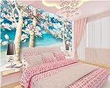 Peinture murale belle élégante romantique magnolia actng fleur HD fond d'écran TV...