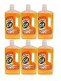 Cif, set di 6bottiglie, detergente liquido alla camomilla, per pavimenti in laminato e legno, bottiglie da 1 litro