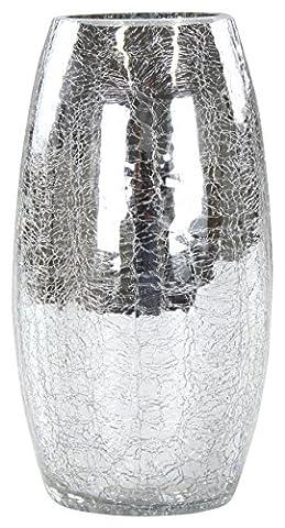 Deko Glas Crackle rund hoch 1 Stück