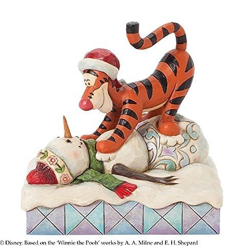 Disney Traditions 4039044 Figurine Tigrou et le Bonhomme de Neige 13,5 cm