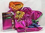 Set emballage cadeaux. Kit Large bicolor Line. 10Enveloppes PPL assorties en 5couleurs intérieur + 10rubans Strip coordonnés