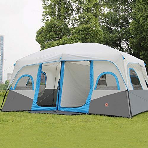K-Y Outdoor Kuppelzelt 10-12 Personen Kuppelzelt, blau Campingzelt
