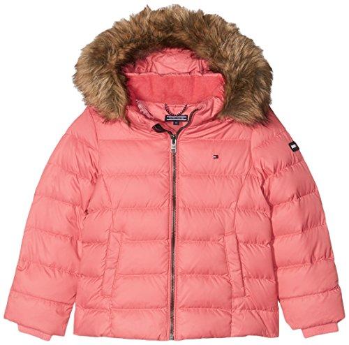 Tommy Hilfiger Mädchen Jacke Ame Thkg Dg Basic Down Jacket, Rosa (Rapture Rose 699), 12 Jahre (Herstellergröße: 12)