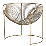 XL- Sofa Chair, moderner Gold-Akzent-Stuhl Leisure Club Arm Sofa Lounge Wohnzimmer Sessel