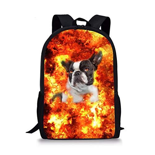 Kinder Schultaschen Kleinkind Bookbag Mops Hund Kinder Rucksäcke (Color : Boston Terrier Pattern, Size : -) -
