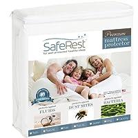 SafeRest Cal King Size Premium Hypoallergenic Waterproof Mattress Protector - Vinyl Free