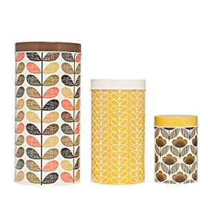 Canister - Set of 4 - Brown, Yellow