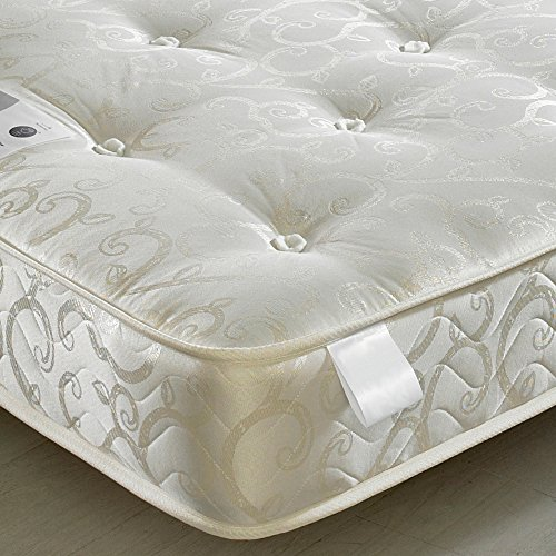 Happy Beds Bunk Bed Atlantis Pinewood White Triple Sleeper Quality Solid Pine Wood With 2x Orthopaedic Mattresses