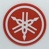 Patch Toppa Logo Flessibile Stampata 3D,Cucibile,Adesiva,Magnetica, Yamaha Stemma 1 - Dim 5,6 X 5,6 cm - Replica