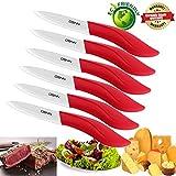 Best Couteaux en céramique - Couteau en céramique Set de 6Pièces, 10cm Rouge Review
