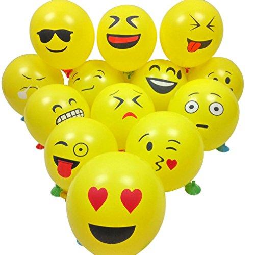 Pcs Nette Emoji Gesichts Ballone für Festival Geburtstagsfeier Weihnachten (A) (Alphabet Geformte Ballone)