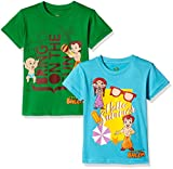 #1: Chhota Bheem Boys' T-Shirt (Pack of 2)