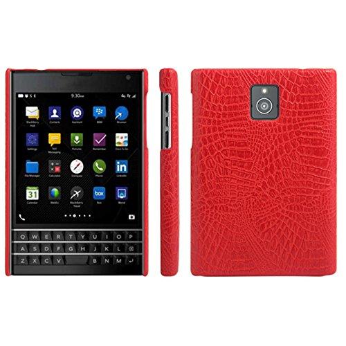 HualuBro BlackBerry Passport Hülle, [Ultra Slim] Premium Leichtes PU Leder Leather Handy Tasche Schutzhülle Case Cover für BlackBerry Passport Smartphone (Rot)