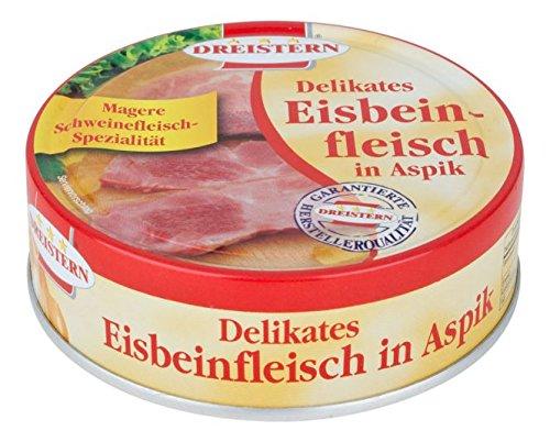 Dreistern Delikates Eisbeinfleisch in Aspik, 3 x 200g