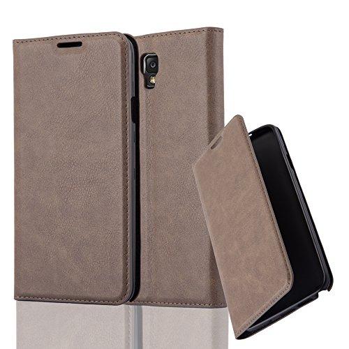 Cadorabo Hülle für Samsung Galaxy Note 3 NEO - Hülle in Kaffee BRAUN – Handyhülle mit Magnetverschluss, Standfunktion und Kartenfach - Case Cover Schutzhülle Etui Tasche Book Klapp Style