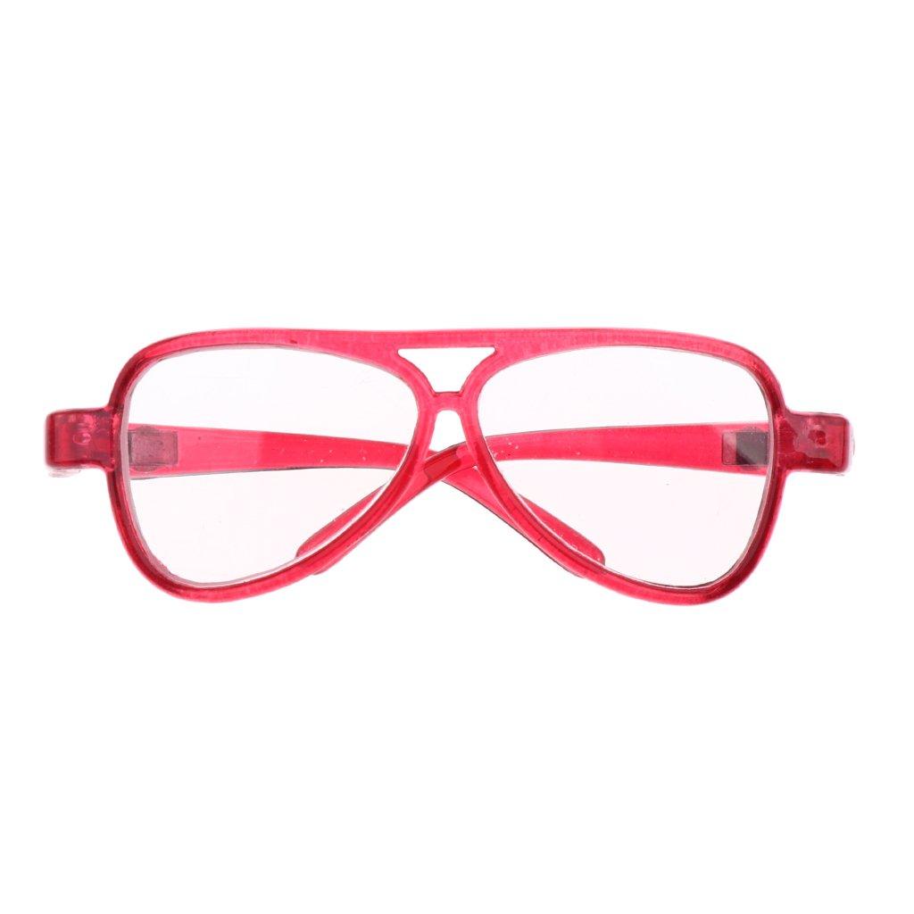Sharplace Occhiali Specchio Montatura Ovale Moda Per 1/3 Bambola Accessori Plastica Regalo - Traspar
