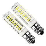 E14 LED Lampe 5 Watt Äquivalent 50 Watt Cool White 6000 Karat Dunstabzugshaube 450 Lumen AC220-240V Nicht Dimmbare Kleine Edison Schraube 75 STÜCKE 2835SMD (2er Pack)