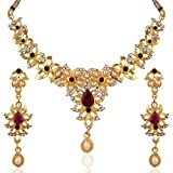 Variation Gold Plated Pearl Pink Necklac...