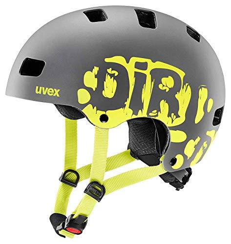 Uvex Bike Helmets Bike Helmets, Dirtbike Grey Lime Mat, 55-58