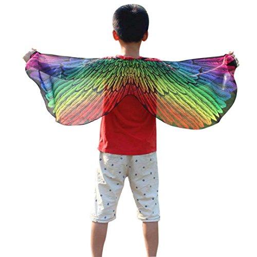 Faschingskostüme Schmetterling Schal Mädchen Karneval Kostüm Schmetterlingsflügel feenhafte Nymphe Pixie Halloween Cosplay Kinder Schmetterlingsf Cosplay Butterfly Wings Flügel LMMVP (Mehrfarben ()