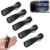 Yogogo 5PC lampe de poche LED - Super Bright - CREE Q5 AA / 14500 3 Mode ZOOM MINI Police Torch