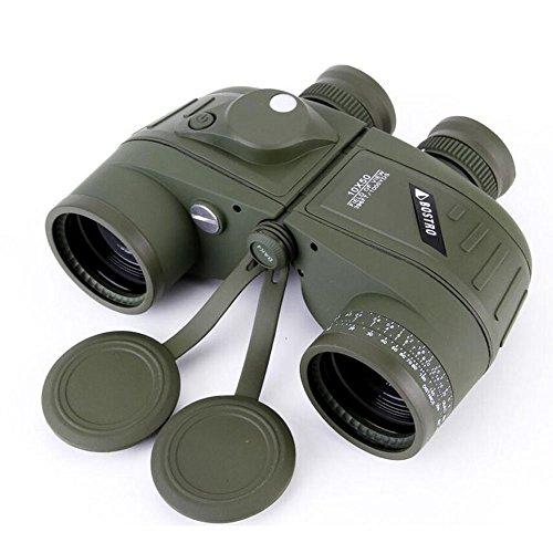 GAOLIXIA 10x50 HD Militär Fernglas mit Entfernungsmesser Kompass Teleskop Stickstoff gefüllt wasserdicht Sportoptik Armee grün Nachtsicht (Color : Green)