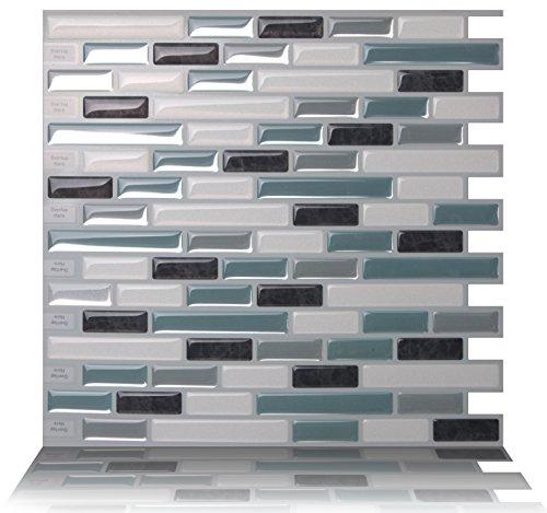Tic Tac Tiles Anti-Schimmel schälen und stecken Wand-Fliese In Como Marrone 10 10