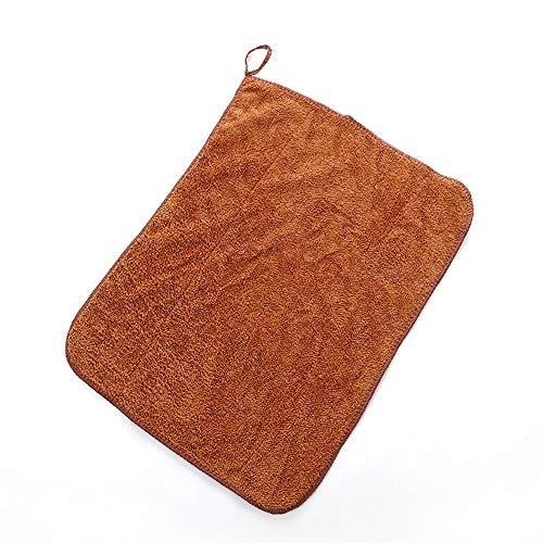 2 Lumpen Mikrofaser Reinigungstuch Küchengeschirrtuch Saugfähiges Lappen Reinigungstuch Staubtuch Shop Lappen Baumwolle Geeignet für Garage Auto Körper und Bar,Brown