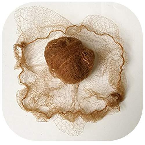 Coepoch 50,8 cm Beaucoup de Cheveux Filets Invisible élastique Edge Maille 50 cm pour éviter Les Cheveux Tomber Light Brwon 10pcs