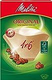 Filtertüten / Kaffeefilter 40 Stk. Melitta Original 1x6 (Naturbraun), 1er Pack