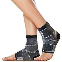 BRACOO 2 Stk. Fersensporn Bandage – Plantar Fasciitis – Plantarfasziitis Bandage | Knöchelbandagen bei Fersenschmerzen & Schwellungen | S/M