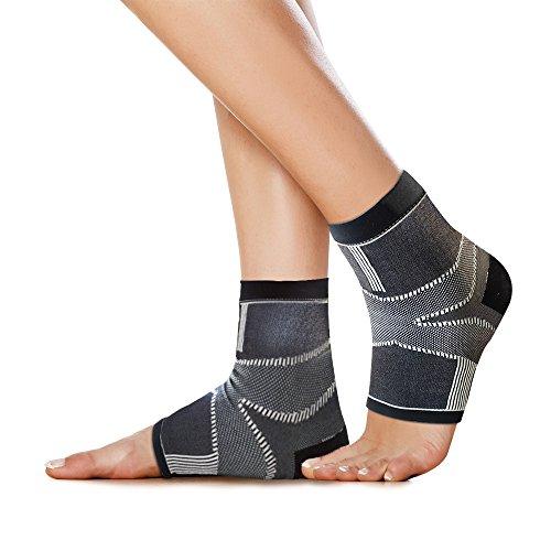 BRACOO 2 Stk. Fersensporn Bandagen – Plantar Fasciitis – Plantarfasziitis Bandagen | Effektive Schmerzlinderung bei Fersenschmerzen & Schwellungen | L/XL (Der Ferse Schmerzen Sporn In)