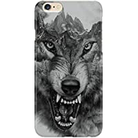Cover Custodia Protettiva Lupo della Montagna Furia Denti Morso Design Wolf Bite Fury Illustration Case Iphone 4/4S/5/5S/5SE/5C/6/6S/6plus/6s plus Samsung