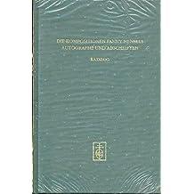 Die Kompositionen Fanny Hensels in Autographen und Abschriften aus dem Besitz der Staatsbibliothek zu Berlin - Preussischer Kulturbesitz