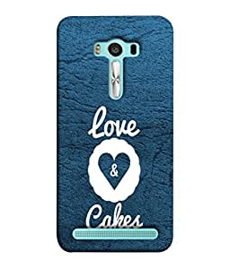 PrintVisa Designer Back Case Cover for Asus Zenfone 2 Laser ZE500KL (5 Inches) (Creativity Love and cakes)