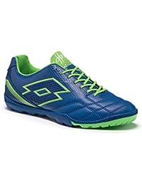 Lotto - Zapatillas de fútbol sala de Piel para hombre azul BLU MAR/BLU CHI