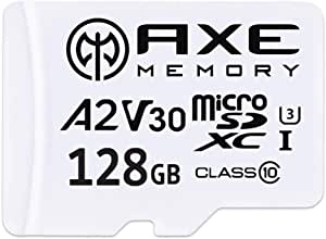 Axe 128gb Microsdxc Memory Card Sd Adapter With A2 App Performance V30 Uhs I U3 4k Ultra Hd Class 10