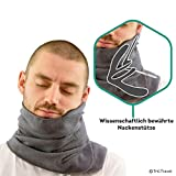Trtl Pillow – Scientifically Proven Super Soft Neck Support Travel Pillow – Machine Washable Grey