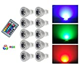 G-Anica 10X GU10 RGB LED Lampe / Strahler multicolor Glühbirne / Glühlampe mit Ferbedienung inklusive - Farbwechsel
