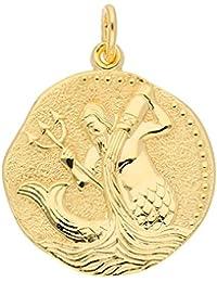 Gold 8 k ( 333 ) Sternzeichen Anhänger - Wassermann - Ø 18,2 mm