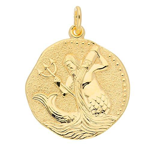 Gold Sternzeichen Anhänger Wassermann 8 k 333 Gelbgold Ø 1.82 cm