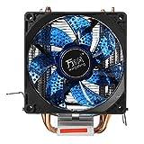Tutoy Led Doppel-Heat Pipe Dual Lüfter Quiet Cpu Kühler Kühlung Lüfter Kühlkörper Für Lga 1155 775 1156 Amd - Blau