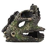 FTVOGUE Acuario Driftwood Madera Artificial Tronco de árbol Raíz Camarón Desove Terreno Cueva Tanque de Peces Vivarium Decoración(03)