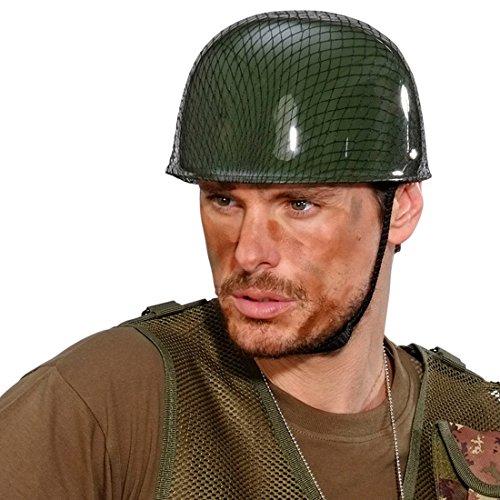 NET TOYS Army Soldatenhelm Armee Helm grün Militärhelm Camouflage Truppenhelm ()