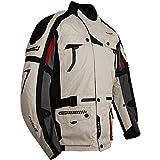 Roleff Racewear Blouson de Moto Chicago en Tissu, Blanc, M