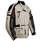 Roleff Helle Motorradjacke mit Protektoren, Belüftungssystem, Klimamembrane und herausnehmbarem Thermofutter Racewear