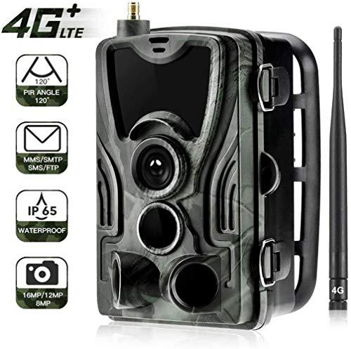 Clean Wildkameras Mit Handy Übertragung 4G 1080P 16MP Wildkamera Fotofalle Mit IP65 wasserdichte Jagdkamera 36 Pcs Low-Glow 940nm Infrarot-LEDs, Infrarot-Nachtsicht Bis Zu 20m, Triggerzeit 0.3s