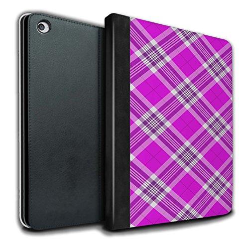 STUFF4 PU Pelle Custodia/Cover/Caso Libro per Apple iPad Air 2 tablet / Rosa / Tartan Picnic Disegno