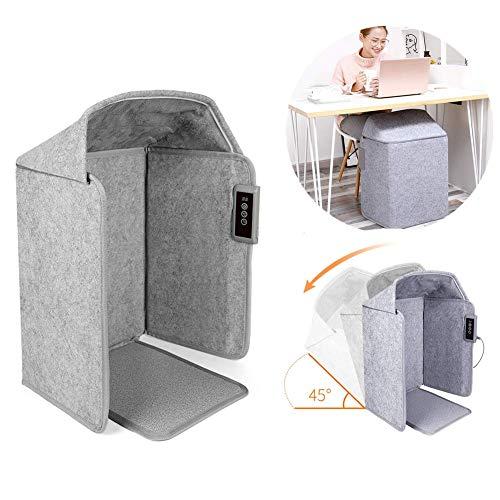 Scaldapiedi elettrico pieghevole, inverno portatile sotto il rilievo di riscaldamento dello scaldapiedi da scrivania, termostato regolabile, funzionamento silenzioso riscaldatore di spazio piatto